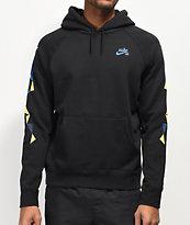 Nike SB Geometric sudadera con capucha negra
