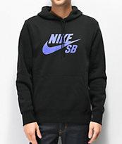 Nike SB Icon Black & Purple Hoodie