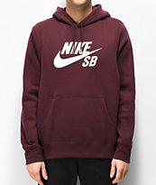 Nike SB Icon Burgundy Crush Hoodie