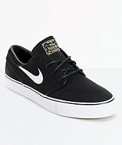 Nike SB Janoski Black & White Canvas Skate Shoes