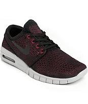 Nike SB Janoski Max Villain Red, Black, & Wolf Grey Shoes