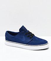 Nike SB Kids Janoski Blue Void & White Skate Shoes