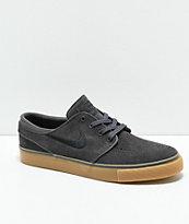 Nike SB Kids Janoski Dark Grey, Black & Gum Skate Shoes