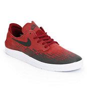 Nike SB Lunar Oneshot Team Red & Black Skate Shoes