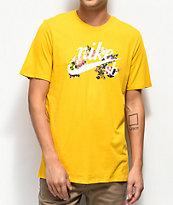 Nike SB Old School Floral Logo camiseta dorada