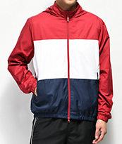 Nike SB Shield chaqueta cortavientos roja, blanca y azul