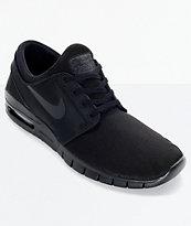 29bb78793c52b Nike SB Stefan Janoski Air Max Black and Anthracite Mesh Skate Shoes ...