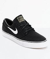 Nike SB Zoom Stefan Janoski Black & White Canvas Skate Shoes