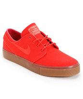 Nike SB Zoom Stefan Janoski Hyper Red Sail Canvas Shoe