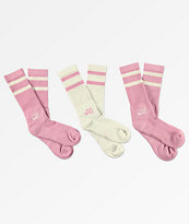 Nike SB paquete de 3 calcetines grises y rosas