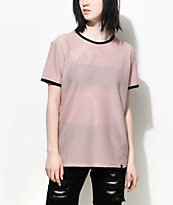 Ninth Hall Amelia Taupe & Black Mesh Top