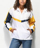Ninth Hall Liza chaqueta anorak en blanco, amarillo y azul