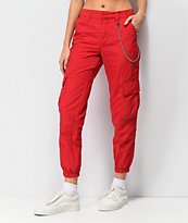 Ninth Hall Talia Red Parachute Pants