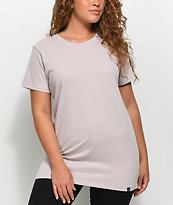 Ninth Hall Tully Slit camiseta extra grande en color malva