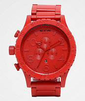 Nixon 51-30 All Red Chronograph Watch