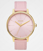 Nixon Kensington Leather Light Gold & Pink Analog Watch