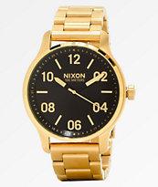 Nixon Patrol Gold & Black Analog Watch