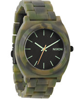 Nixon Time Teller Acetate Camo Analog Watch
