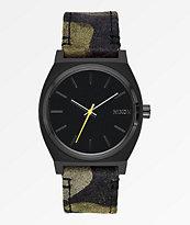 Nixon Time Teller Black, Camo & Volt Yellow Analog Watch