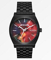 Nixon x Metallica Time Teller Hardwired reloj negro