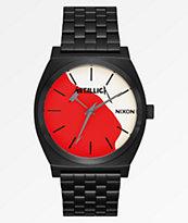 Nixon x Metallica Time Teller Kill 'Em All reloj negro