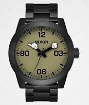 Nixon x Mickey Mouse Corporal SS Black Surplus reloj analógico