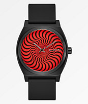 Nixon x Spitfire Time Teller Black Swirl Analog Watch