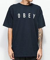 Obey Anyway Dark Navy & White T-Shirt