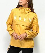 Obey Anyway Yellow Anorak Jacket
