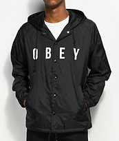 Obey Anyway chaqueta entrenador negra