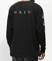 Obey Awakening camiseta negra de manga larga