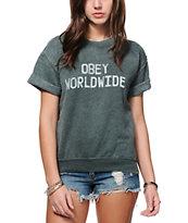 Obey Belushi Short Sleeve Crew Neck Sweatshirt