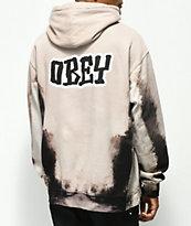 Obey Better Days Black Tie Dye Hoodie