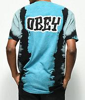 Obey Better Days Blue Tie Dye T-Shirt