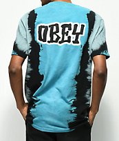 Obey Better Days camiseta azul con efecto tie dye