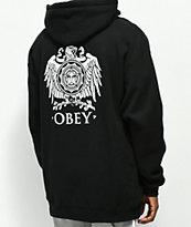 Obey Broken Eagle sudadera con capucha negra