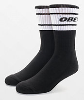 Obey Cooper Deuce Black & White Crew Socks