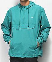 Obey Crosstown II chaqueta anorak verde azulado