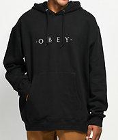 Obey Distant sudadera con capucha negra