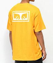 Obey Eyes 3 Gold & White T-Shirt