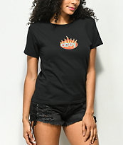Obey Flame Intern Black T-Shirt