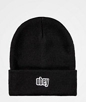 Obey Highland Black Beanie