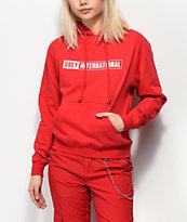 Obey International 2 sudadera con capucha roja