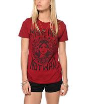 Obey Make Art Not War Berry T-Shirt