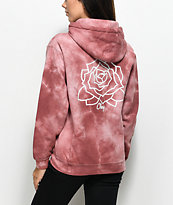 Obey Mira Rosa Dusty Rose Tie Dye Hoodie