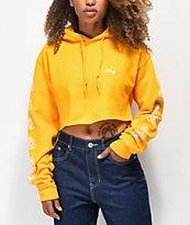 Obey Mira Rosa Gold Crop Hoodie