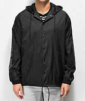 Obey Outline Black Coaches Jacket