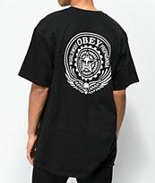 Obey Skull & Eyes camiseta negra y blanca