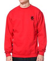 Obey Star Crown Red Crew Neck Sweatshirt