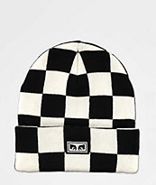 Obey Study Checkered Beanie
